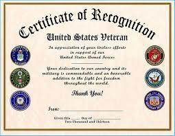 Veterans Appreciation Certificate Template 10040
