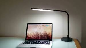 desk lamp on desk