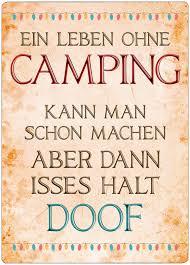 Dekoschild Ohne Camping Ist Doof Geschenke Für Camper