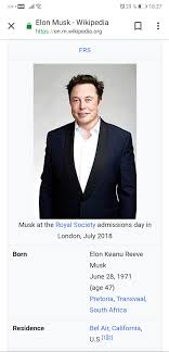 Someone changed his full name to Elon Keanu Reeve Musk in wikipedia lmao :  elonmusk