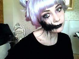 gif pretty hair beautiful creepy face makeup purple purple hair pastel pastel hair face paint mouth