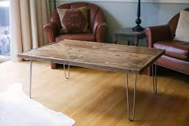 Pallet Coffee Table With Hairpin Legs  Pallet Furniture DIYPallet Coffee Table With Hairpin Legs