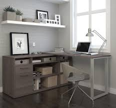 l shaped desk modern. Delighful Shaped Modern Lshaped Desk With Integrated Storage In Bark Gray On L Shaped E