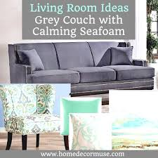 Yellow Home Decor Accents Grey Couch With Calming Seafoam Accents Sofa Living Room Yellow 64