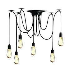 chandelier edison bulb com 6 head industrial ceiling spider lamp cozy bulb chandelier regarding sputnik