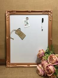 Framed Dry Erase Board Rose Gold Magnet Whiteboard Copper Dry Erase Board Metallic