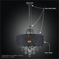 drum shade chandelier clip slide adapter kit sheer magic sh001 602bd3lmi 7c sh005 18 7b