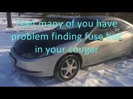 cougar fuse box youtube 1984 Mercury Lynx Hatchback Gray at 1984 Mercury Lynx Fuse Box Outline