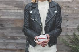 100 my black faux leather jacket this chic everyday staple will multiply your outfit options i love how simple yet edgy leather jackets look paired