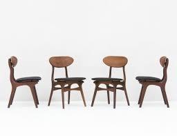 set of 4 dining chairs. Set Of 4 Dining Chairs In Teak By Louis Van Teeffelen For Wébé, 1950s
