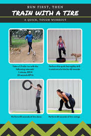 train with a tire workout