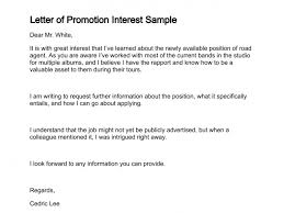 requesting a promotion letter letter of promotion