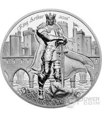 king arthur camelot knights round table 2 oz silber münze 10 cook islands 2016
