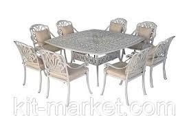Садовый стол и кресла из литого алюминия, цена 171000 руб ...