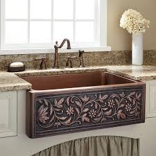 25 vine design copper farmhouse sink