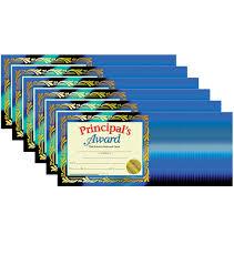 Principal Award Certificate Hayes Principals Award Certificate 30 Per Pack 6 Packs
