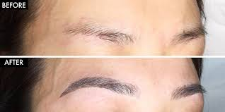 eyebrow microblading before and after. what is eyebrow microblading - how to get semi-permanent tattoos before and after