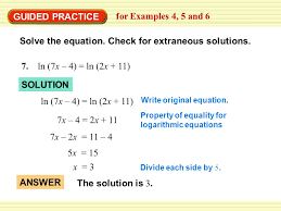 guided practice for examples 4 5 and 6 solve the equation