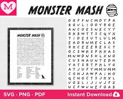 Then you can use all installed on font manger applictaion like microsoft word, adobe photoshop corel draw etc. Halloween Word Search Monster Mash Svg Svg Png Pdf Forget Etsy