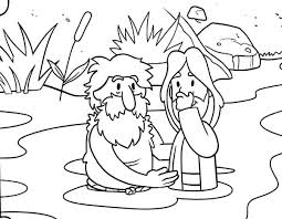 John The Baptist Coloring Page Jesus Baptism John The Baptist