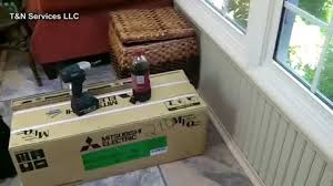 Mitsubishi Ductless Heat Pump 15 Ton Mitsubishi Ductless Heat Pump Install Youtube
