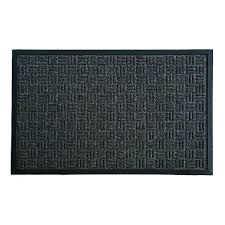 blue hawk black rectangular door mat common 2 ft x 3 ft