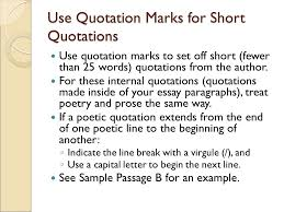 writing about literature quoting and revising ppt use quotation marks for short quotations