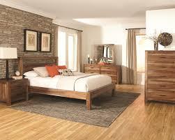 coaster peyton pc king platform bedroom set in natural brown