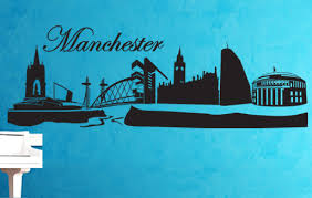 wall sticker manchester skyline on manchester skyline wall art with wall sticker manchester skyline beiwanda uk