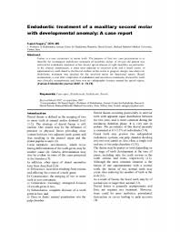 Maxillary Second Molar Endodontic Treatment Of A Maxillary Second Molar With