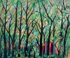 abstract painting the forest