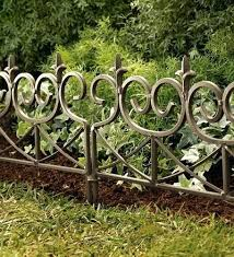 garden edging fence. Wrought Iron Garden Edging Fence Gallery Of Metal Tall Fencing