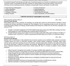 Construction Resume Skills New Construction Project Manager Key Skills Sample Resume Unique New 48