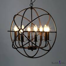 large cage chandelier industrial orb chandelier in black with globe cage 8 light large silver birdcage chandelier