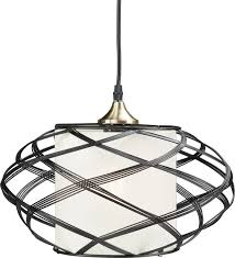 alento wire cage pendant lamp transitional pendant lighting by hedgeapple