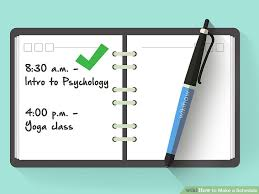 makea how to make a schedule with pictures wikihow