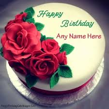 Birthday Cake Name Edit Picture Delicious Cake Recipe