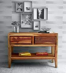 Buy Anitz Solid Wood Console Table In Warm Walnut Finish Woodsworth By Pepperfry Online Transitional Console Tables Tables Furniture Pepperfry Product