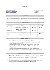 Resume Samples For Freshers Free Download Ccnp Resume Format