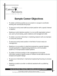 Job Objectives On Resume Great Objectives For Resumes Career Objective Resume Examples New 42