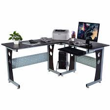 home office corner computer desk. Goplus Large Wood L-Shape Corner Computer Desk Office PC Laptop Table Workstation Modern Home C