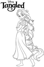 Small Picture Disney Princess Colouring Pages Rapunzel Coloring Pages