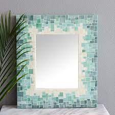 mosaic mirror bathroom mirror
