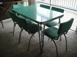 Retro Chrome Kitchen Table Reserved 1950s Kitchen Table And Chairs Mint Dining Set With Six