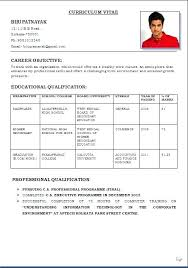 Format Of Resume Pdf Professional A Resume Sample Photo Design