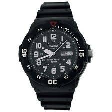 mens casio watches casio mens analogue day date window black strap sports watch mrw 200h 1bves