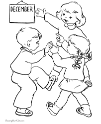 Christmas Coloring Pages For Kids Its December