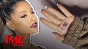 Ariana Grandes New Japanese Hand Tattoo Says Something Very Funny Tmz Tv