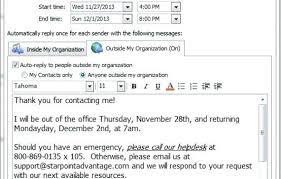 Sample Out Of Office Message Out Of Office Template Email Choice