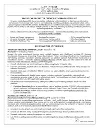 technical recruiter resume example nurse recruiter resume